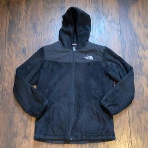 The North Face Black Hooded Zip Up Fleece Jacket